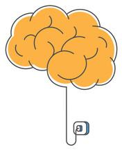 Concept Illustration Of Brain Charging.