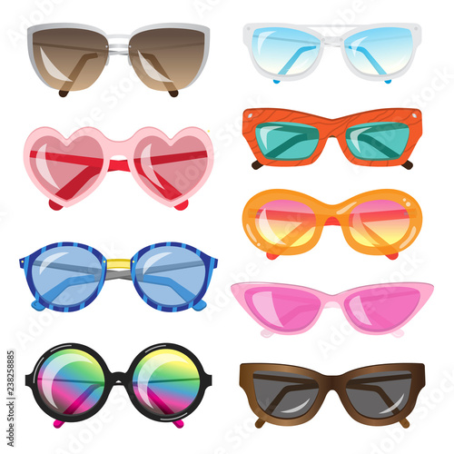Sunglasses Different Of Set Fashionable ShapesColorsAnd xeBdCo
