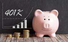 401K Piggy Bank Concept