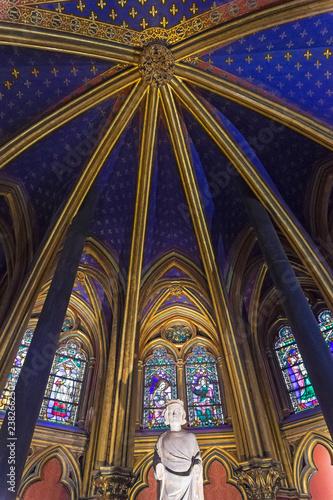 Fotografía The interior of Sainte-Chapelle.