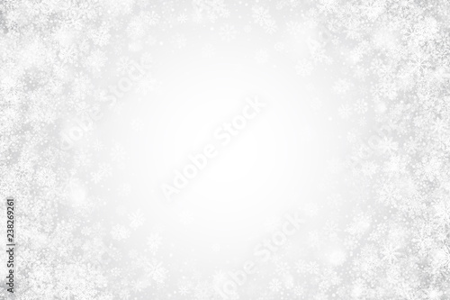 White Christmas Snow Background.White Christmas Holiday Vector Wallpaper With Realistic