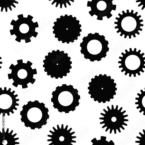 zab-kolo-wzor-motyw-zegarowy-technologiczny-lub-przemyslowy-plaskie-tlo-wektor-w-czerni-i-bieli