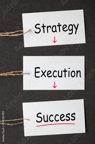 Fotografía  Strategy Execution Success