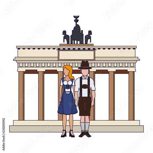 Fotografie, Obraz  Bavarian couple avatar
