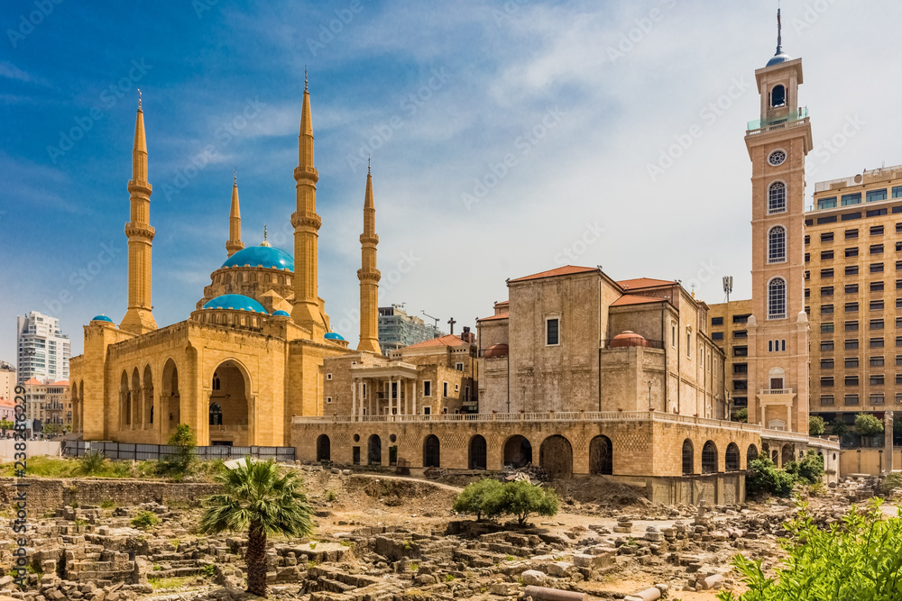 Fototapety, obrazy: Mohammad Al-Amin Mosque in Beirut capital city of Lebanon Middle east