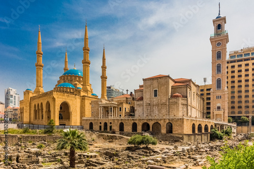 Fotografia Mohammad Al-Amin Mosque in Beirut capital city of Lebanon Middle east