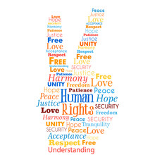 Human Rights Concept Words In...