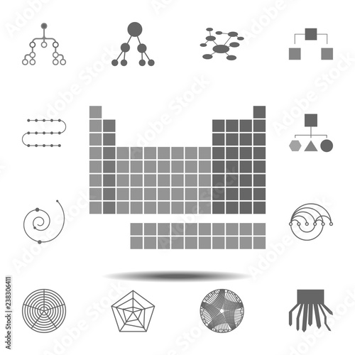 Periodic Table Icon Simple Glyph Vector Element Of Charts And