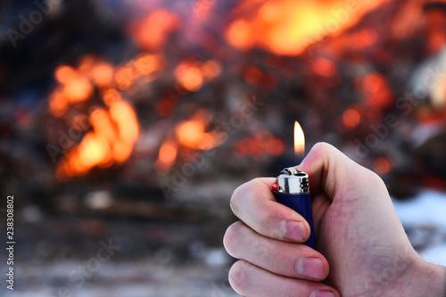 Photo Pyromaniac Concept