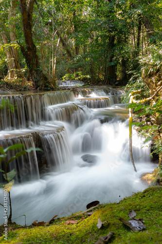 Aluminium Prints Dark grey Huay Mae Kamin waterfall in Kanjanaburi, Thailand