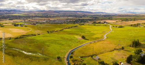 Canvas Prints Honey Yakima River Aerial Panorama Ellensburg Washington USA