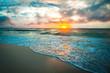 Colorful dawn over the sea