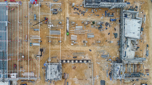 Valokuva Aerial view of construction site