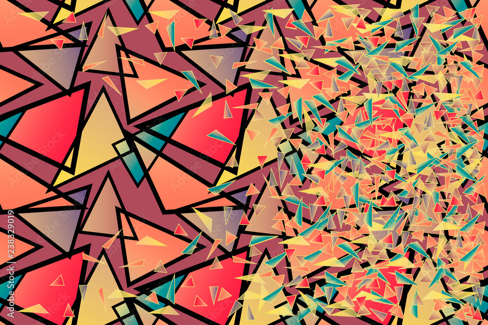 Vector Abstract Geometric Background Chaotic Multitude Of