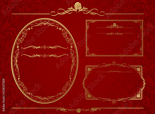 Photo frame set Vector