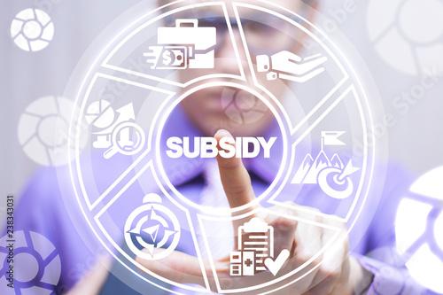 Fotografía Subsidy. Financial help business  company market concept.