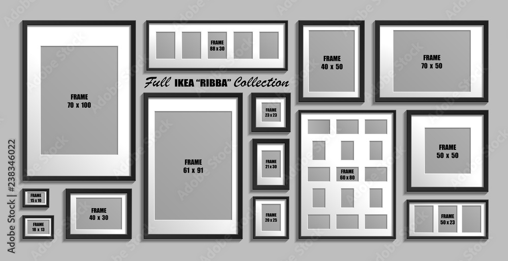 Fotografia Full Collection Of Ikea Ribba Photo Frames Kup