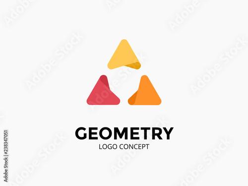 Obraz na płótnie Triangle logo template