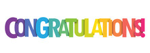 CONGRATULATIONS Bright And Colorful Vector Letters Banner