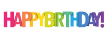 HAPPY BIRTHDAY! Colorful Typog...