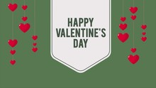 Animation Of Hang Heart Ballon For Greeting Happy Valentine Day