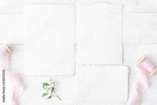 Fototapeta Feminine Wedding Birthday Desktop Mock Up Invitation Card Mockup Template Blank Greeting Cards Rspv Card 5x7 Square Card Envelope