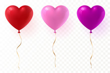 Vector Heart Shaped Balloons S...