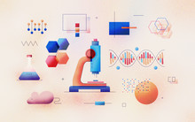 Genomic Analysis Textured Illustration