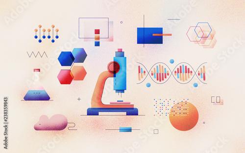 Genomic Analysis Textured Illustration Wallpaper Mural