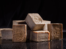 A Pile Of Dried Aleppo Soaps, ...