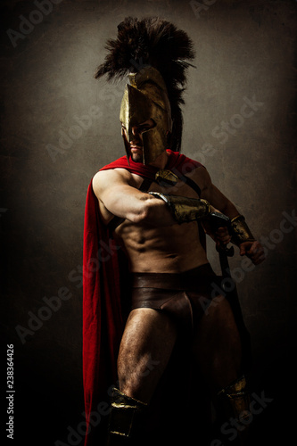 Portrait of a spartan soldier Tapéta, Fotótapéta