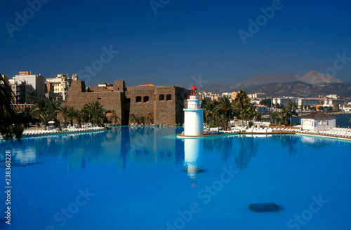 Ceuta (Spain). Saltwater pool inside the Maritime Park of the city of Ceuta