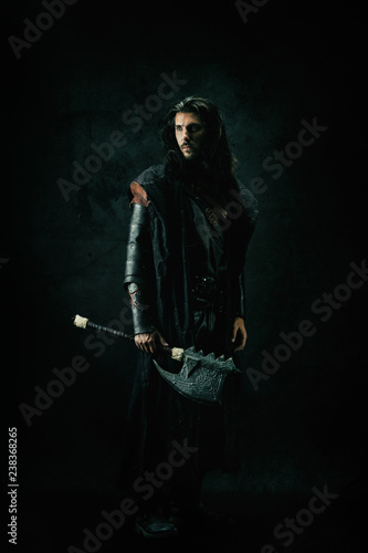 Portrait of a medieval spear Canvas Print