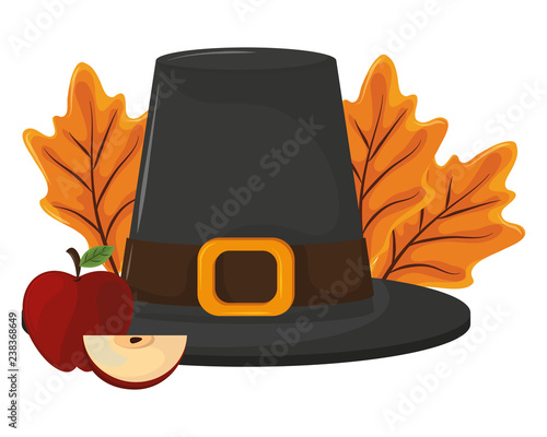 Photo thanksgiving day pilgrim hat