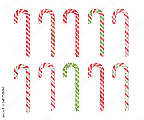 Slika na platnu Christmas cane candy