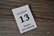 13 Grudnia - Rocznica Stanu Wojennego