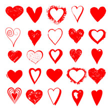 Heart Vector Set For Love And Hart Vector Day Or Banner