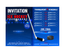 Ice Hockey Tournament Invitation Template With Schedule
