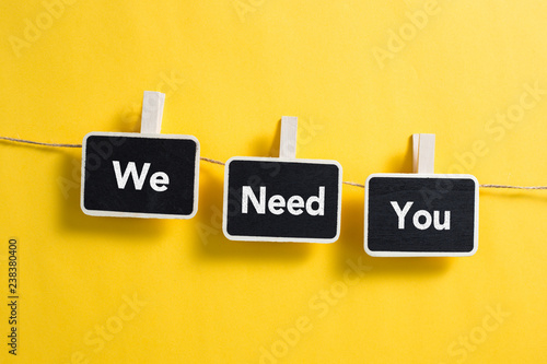 Fotografie, Obraz  We Need You Concept