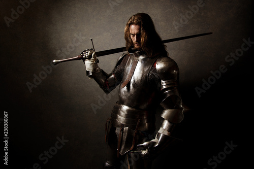 Portrait of a knight in armor Fototapet