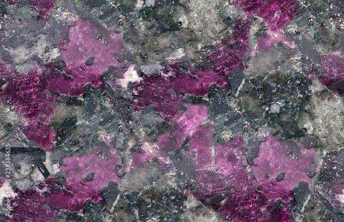 Fényképezés  purple and black eudialyte seamless texture macro
