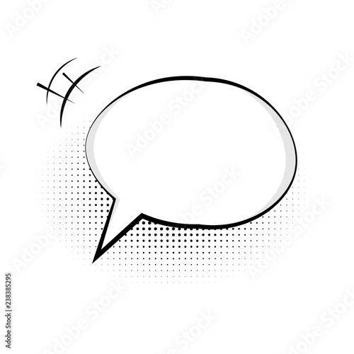 Speech bubble icon  Symbol of chat for web design or mobile