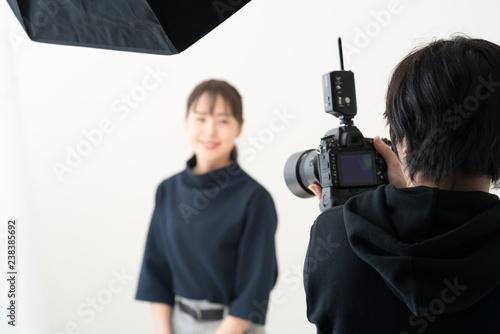 Stampa su Tela カメラマン・モデル・撮影