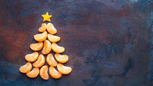 Tangerine Christmas Tree  On D...