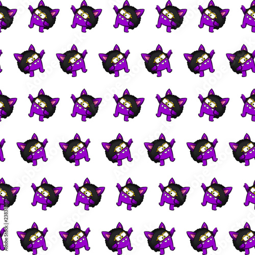 Photo  Purple gremlin - sticker pattern 35