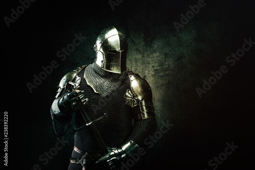 Portrait of a Templar Canvas Print