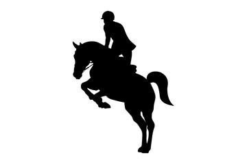 equestrian sport man rider horse black silhouette