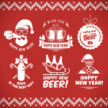 New Year Craft Beer Badges And...