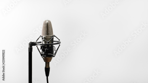 Close the studio condenser microphone with real-time anti-vibration mount with backlight Wallpaper Mural