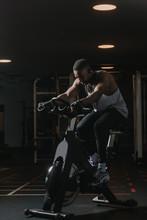 Serious Black Man On Exercise ...